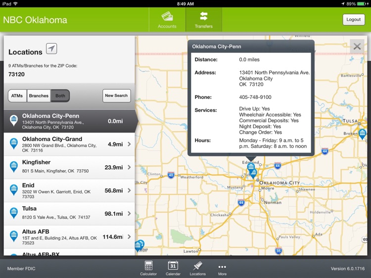 NBC Oklahoma Banking App for iPad screenshot-4