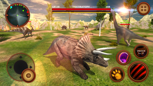 triceratops simulator real dinosaurs survival 3d on the app store