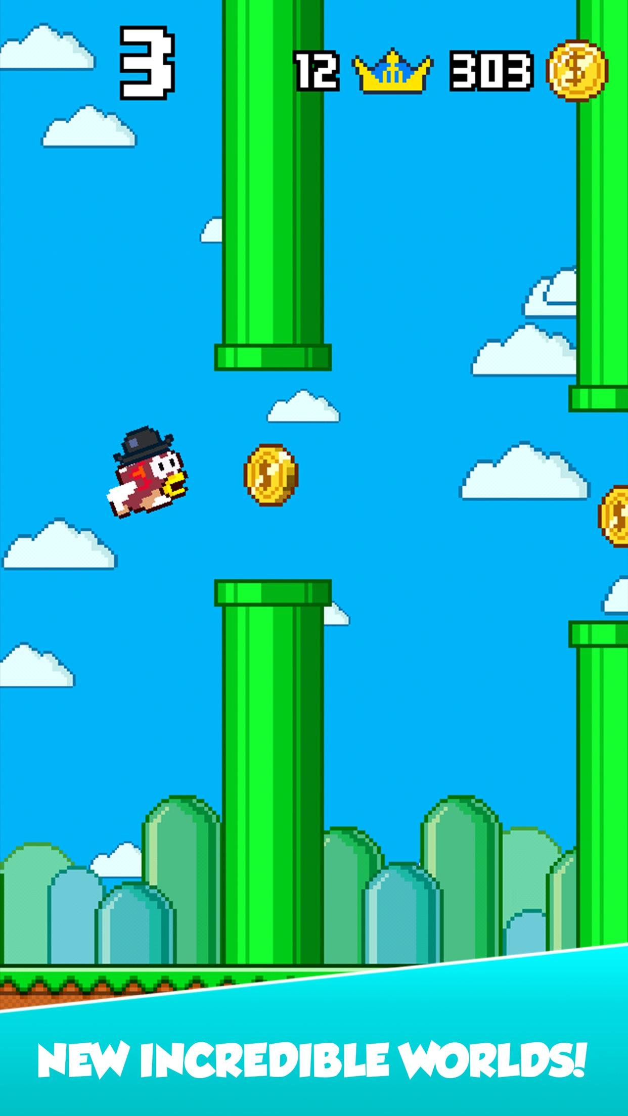 Splashy Fish - Adventure of Flappy Tiny Bird Fish Screenshot