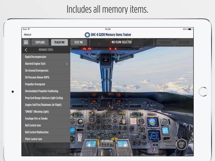 DHC-8 Q200 Memory Items