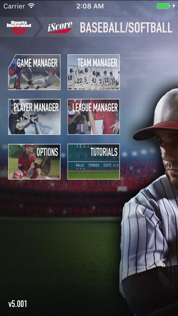 iScore Baseball and Softball Scorekeeper Screenshot