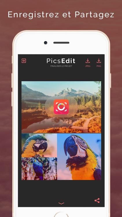PicsEdit - Créer des images et sublimer vos photos screenshot-4