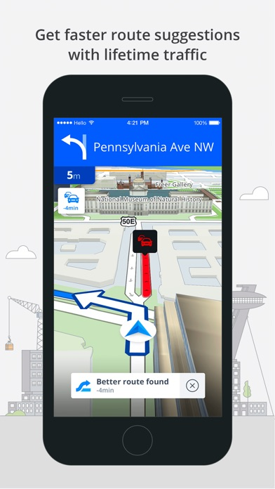 Screenshot #8 for Sygic World: GPS Navigation, Maps & Traffic