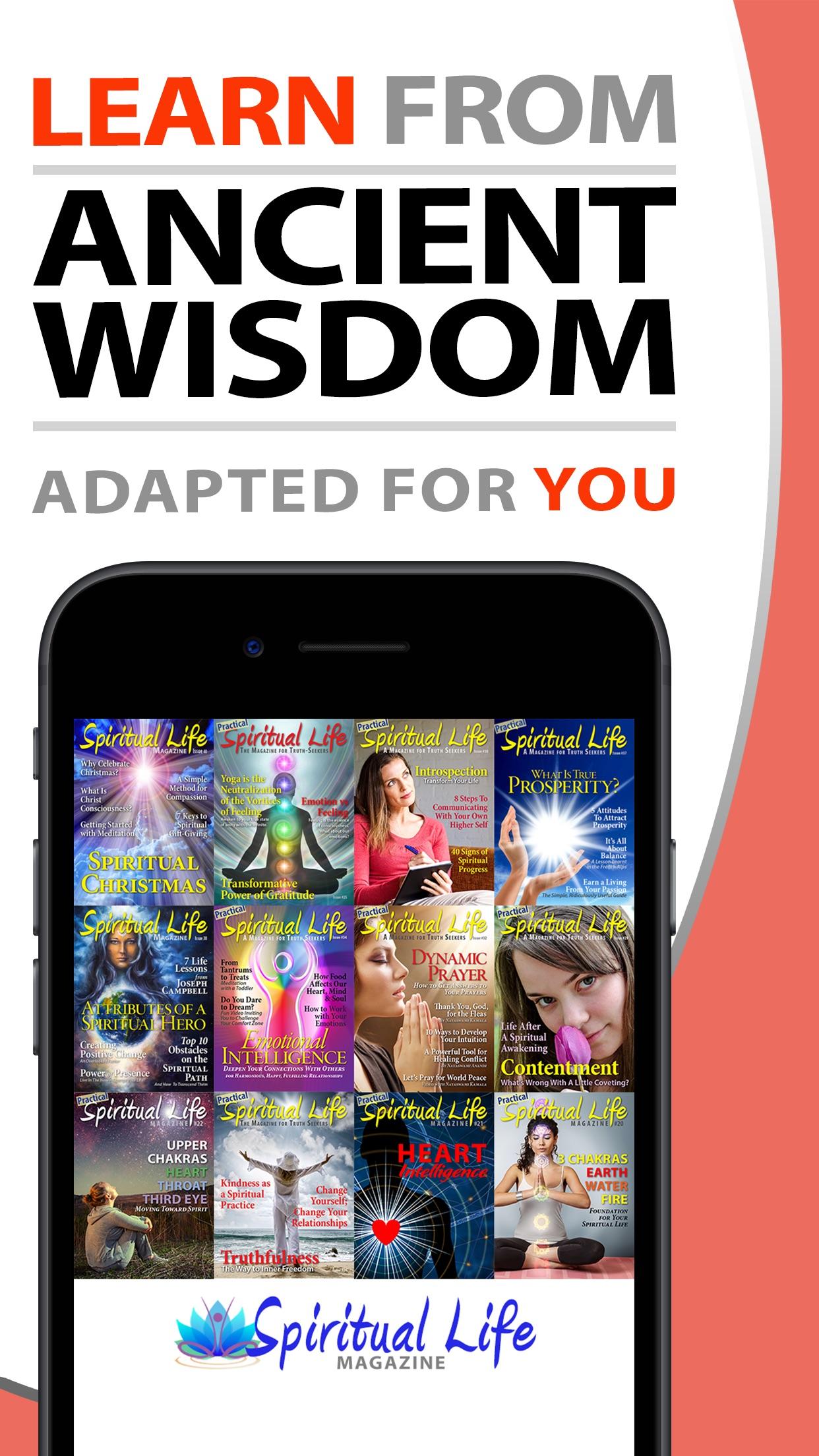 Spiritual Life Magazine - Inspiration Wisdom Joy Screenshot