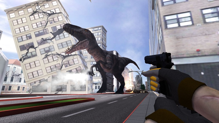VR Dinosaur Hunter: City Dino Survival Game 3D screenshot-4
