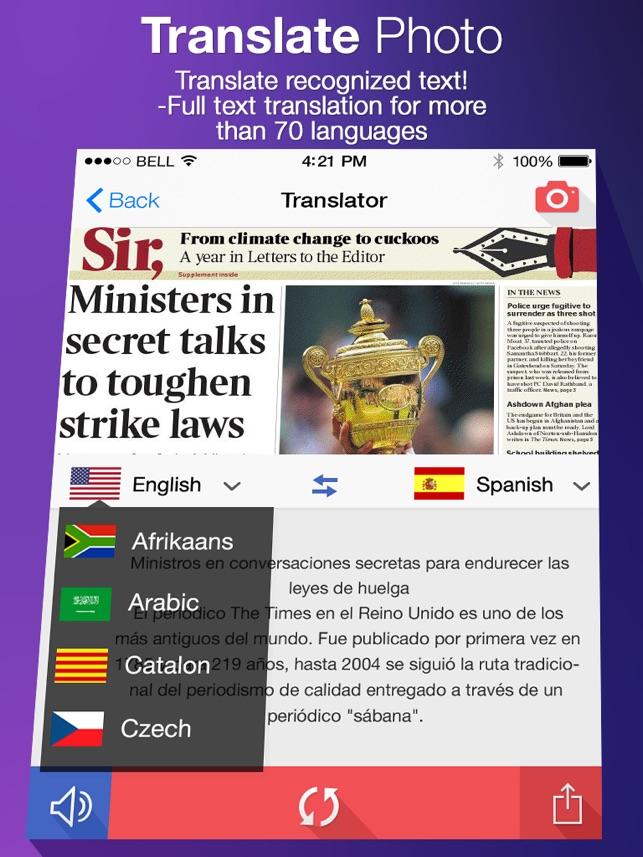 Translate Photo - OCR Cam Scanner & Translator Screenshot