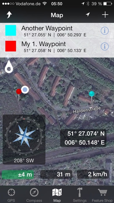 GPS & Maps: Track Coordinates, Compass + Waypoints app image