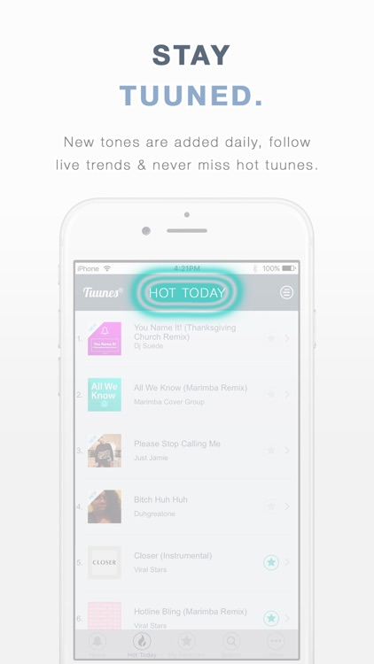 TUUNES™ Ringtones, Music & Text Tones for iPhone app image