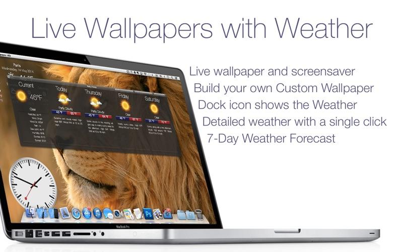 Living Wallpaper HD & Weather på PC