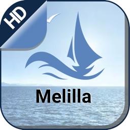 Melilla boating offline nautical chart for fishing