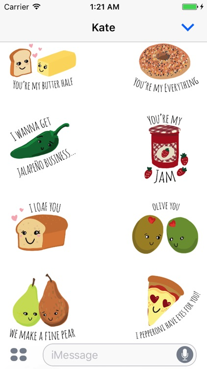 Food Love Sticker Pack