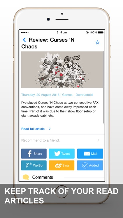 News App - RSS Feed Reader