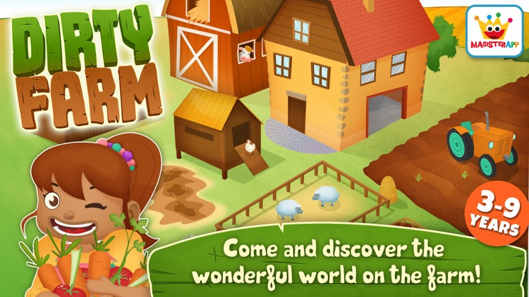 Dirty Farm: Animals & Games for toddlers and kids screenshot-0