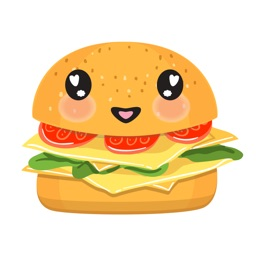 Kawaii Burger - Cute Hamburger Stickers