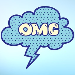 Blue Speech Bubble Words Text Sticker Pack