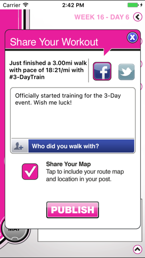 Susan G Komen Day Week On The App Store - Map your walk app