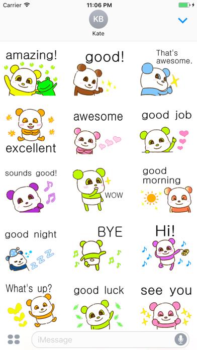 Ripley The Colorful Panda Stickers screenshot one