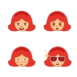 Girl Face Stickers