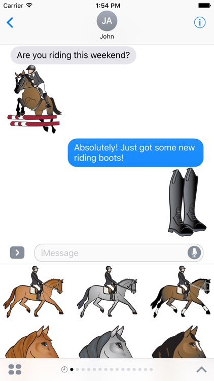Equestrian English Horse Riding Stickers screenshot-3