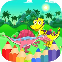 Dinosaur Coloring Game Colorful Dinosaur for Kids