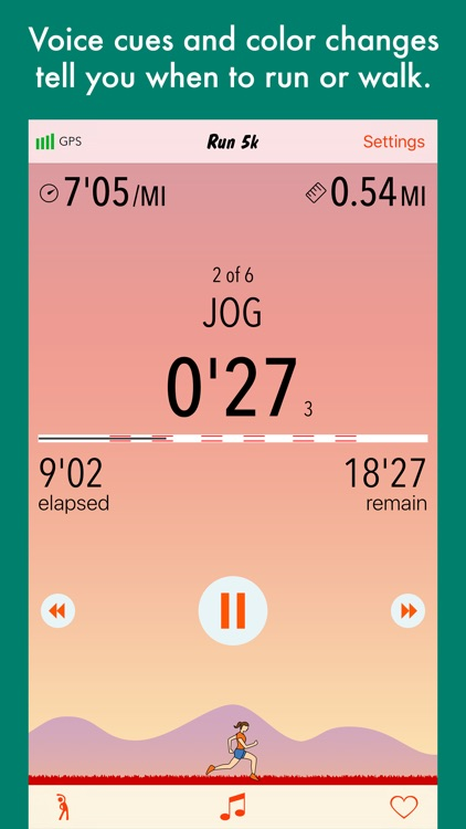 Run 5k - interval training program + stretches screenshot-3