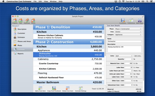 ‎Construction Cost Estimator