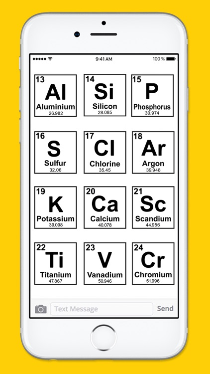 Periodic Table of Elements Black & White Stickers screenshot-3