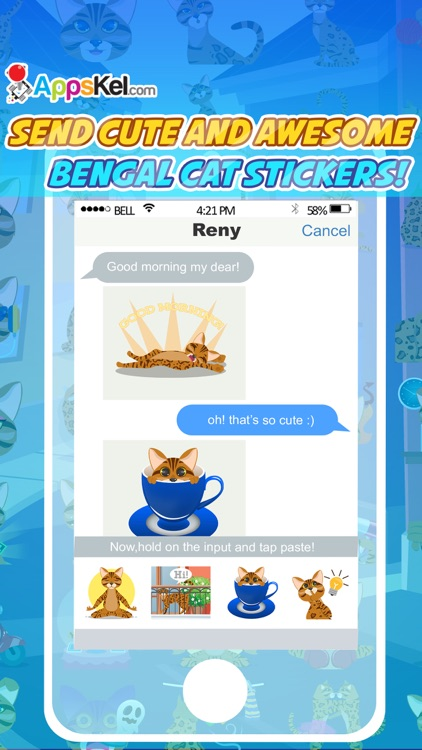 Bengalmoji – Bengal Cats Emoji & Stickers Pro screenshot-2