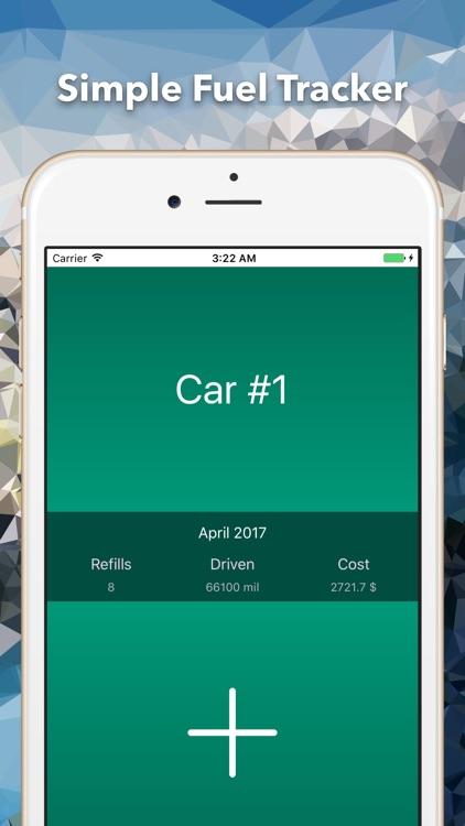 Simple Fuel Tracker - MPG Calculator, Mileage log