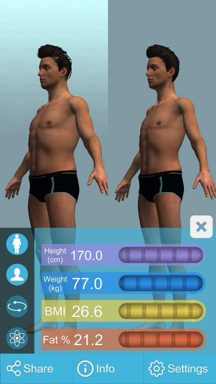 BMI 3D Pro (3D Body Mass Index calculator) screenshot-2