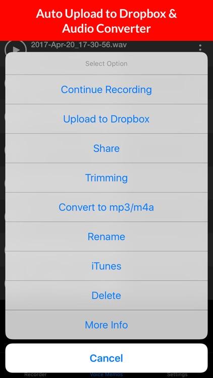 Voice Memos - HD Audio Recording & Playback screenshot-3