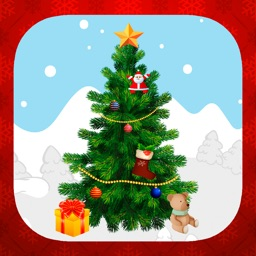 Decorate and create Christmas tree with stickers