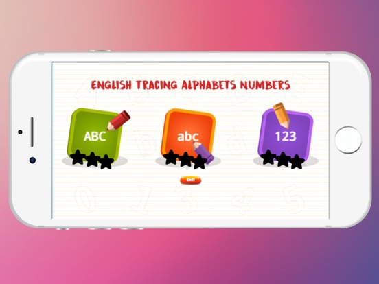English ABC 123 Alphabet Number Tracing for Kids   App
