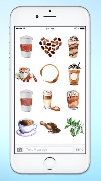 I Love Coffee Watercolor Sticker Pack screenshot-4