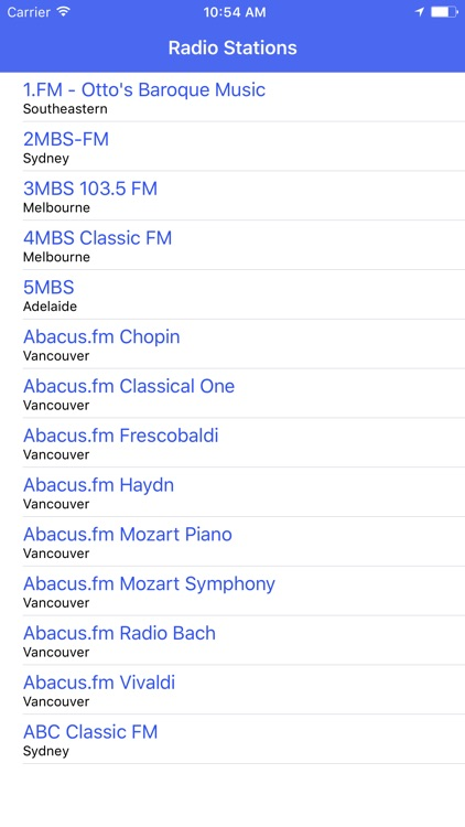 Radio Channel Classical FM Online Streaming