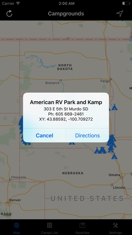 South Dakota – Campgrounds & RV Parks