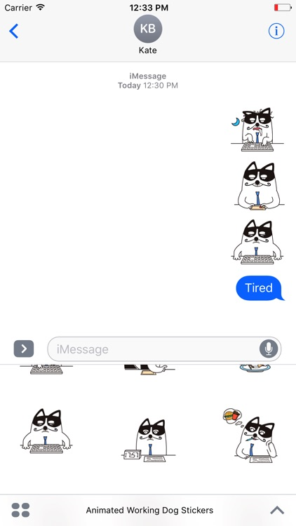 Animated Working Dog Stickers For iMessage screenshot-3