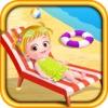 Baby Hazel Beach Time