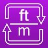 フィート/メートル換算 - 長さの変換 - iPhoneアプリ