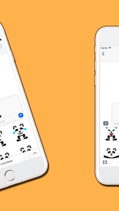 Panda : Cute & Adorable Stickersのスクリーンショット4