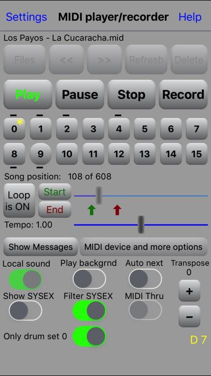 MIDI file player screenshot-0