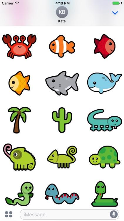 Huge Animal Exploration Sticker Pack for Messaging screenshot-3