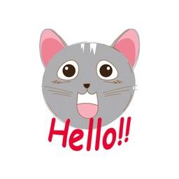 Cute Grey Cat emojis