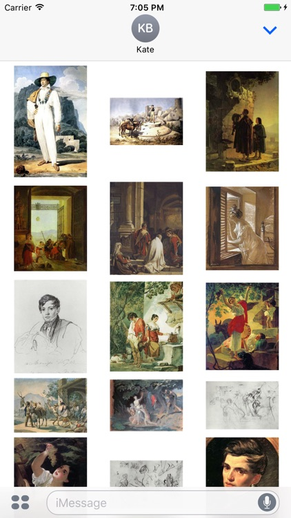 Karl Bryullov Artworks Stickers