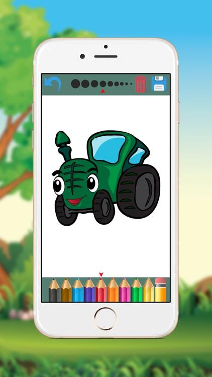 Vehicles Coloring Book for Kids screenshot-3