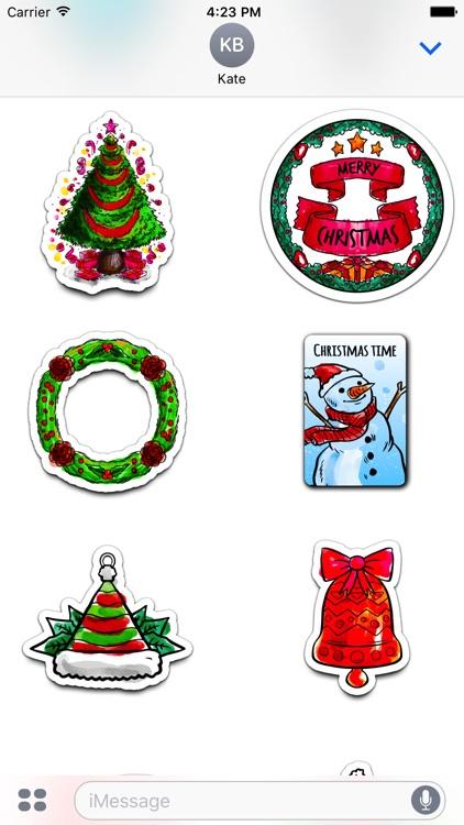 Watercolor Christmas Stickers Vol. 1 screenshot-3