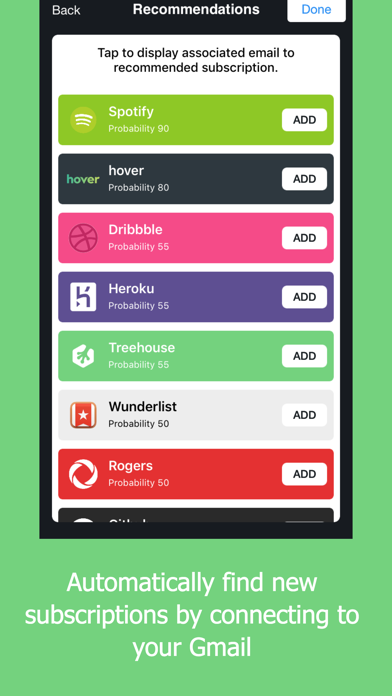 Outflow - Subscription Manager screenshot four