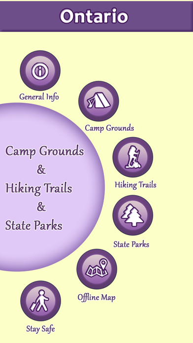 Ontario Camping & Hiking Trails,State Parks screenshot one