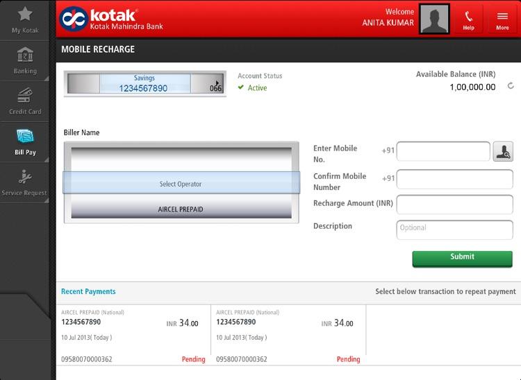 Kotak Bank for iPad screenshot-3