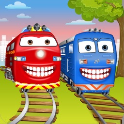 Train Wash and Dentist: Steam Engine Game for Kids
